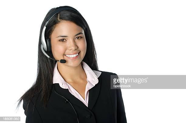 Opérateur de téléphonie afro-américain