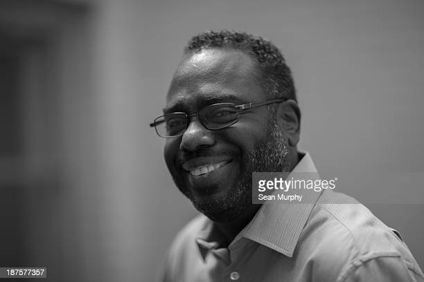 African american profesional smiling at camera