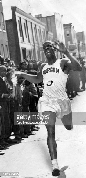 African American student athletes during Afro American Newspapers Health Week marathon 1940
