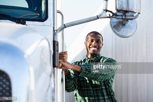 African American truck driver