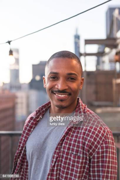African American urban male portrait