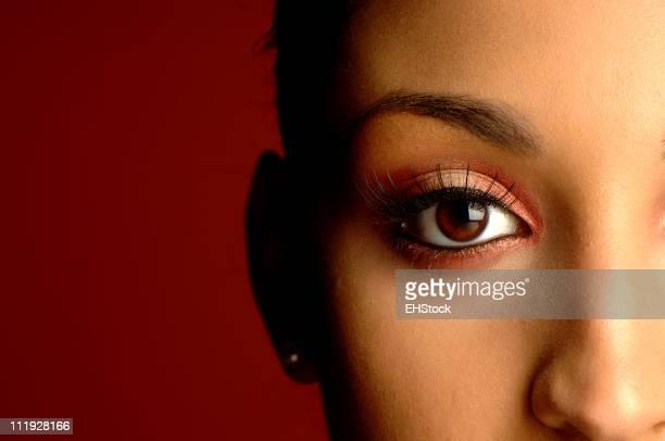 Afro-americana donna Ritratto di Close-Up