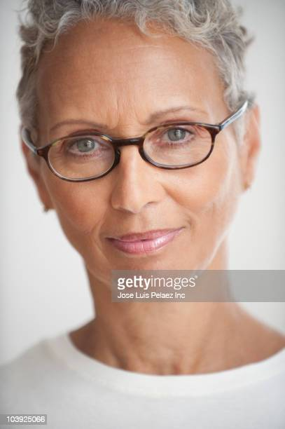 African American woman with eyeglasses