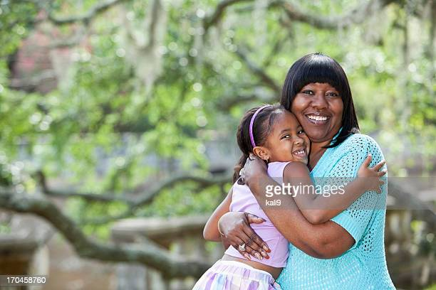 African American woman with granddaughter