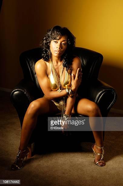 Giovane donna afro-americana, Hip Hop atmosfera