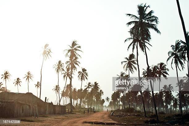 route de la plage africaine