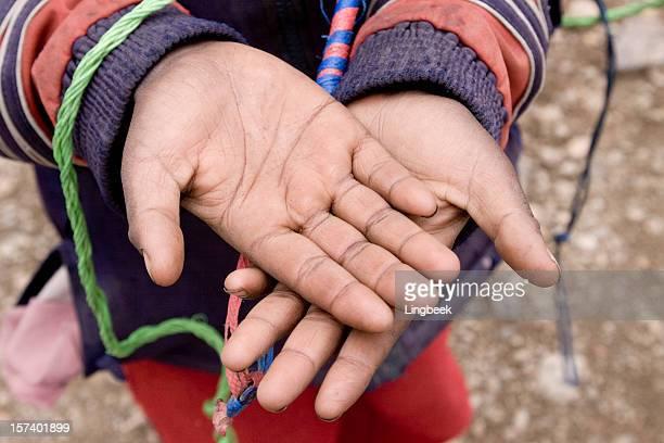 African boy begging
