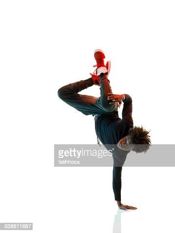 アフリカに励むブレイクダンサー
