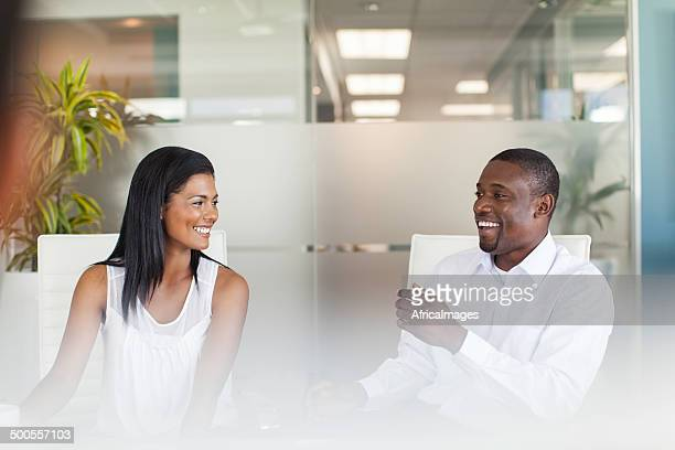 African business colleagues having a conversation