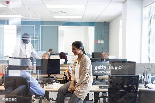 African business firm doing their jobs.