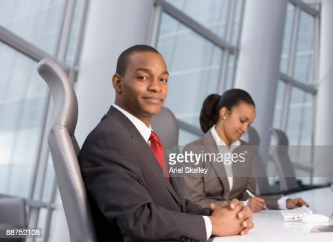 African businessman in modern office : Stock Photo