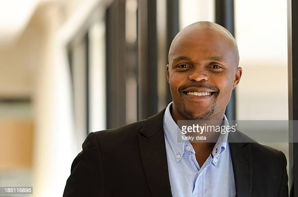 African Businessman smiling