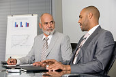 African businessmen having meeting