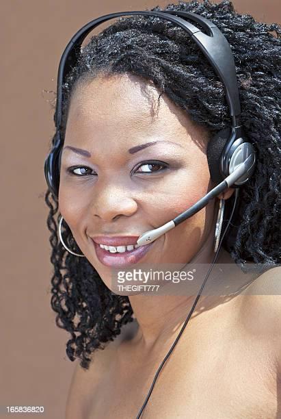 Afrikanische Callcenter Lady