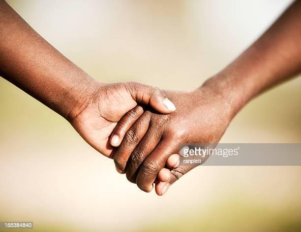 African Chidren Holding Hands