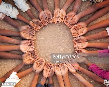 African Chidren's Hands