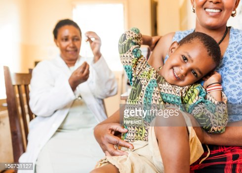 African Child Getting a Vaccine