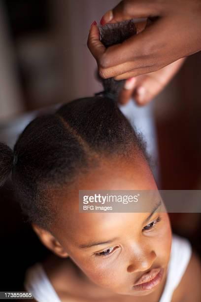 Criança Africana, com estilo de Cabelo