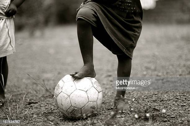 African Child with Soccer Ball