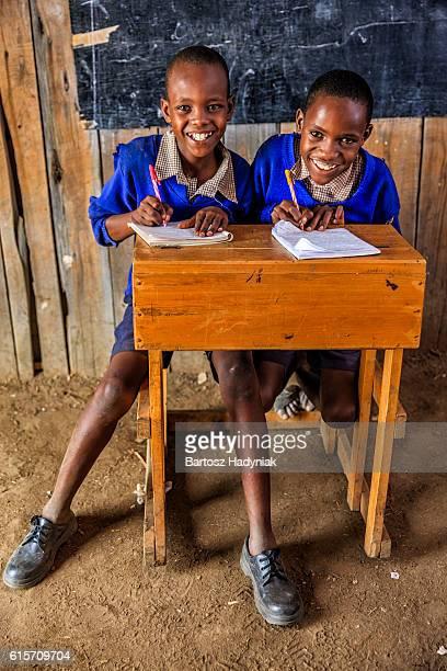 African children during English language class, Kenya
