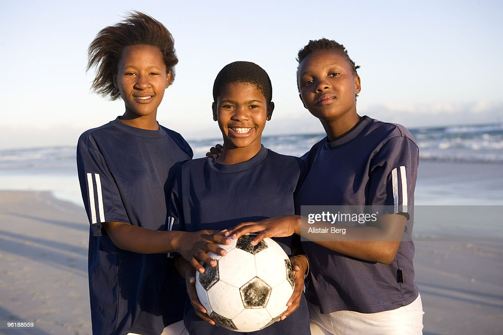 African children with football : Stock Photo