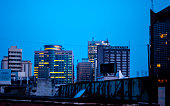 African city financial centre - Lagos, Nigeria, West Africa
