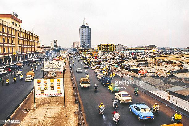 African city street scene.