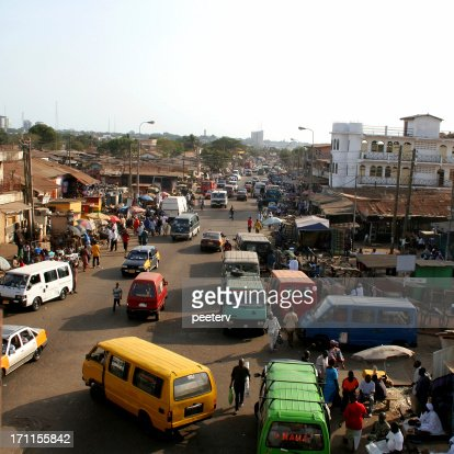 African city traffic.