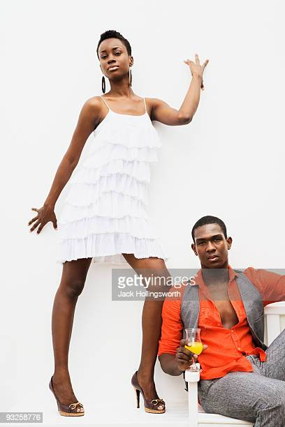 African couple posing with attitude