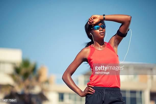 アフリカの女性ランナー