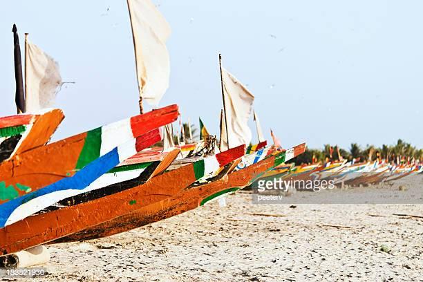 African fishing boats.