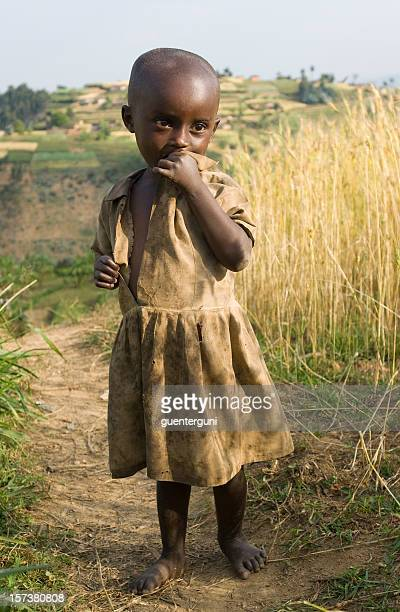 African girl in the fields