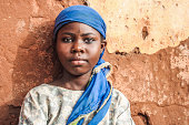 African girl portrait.
