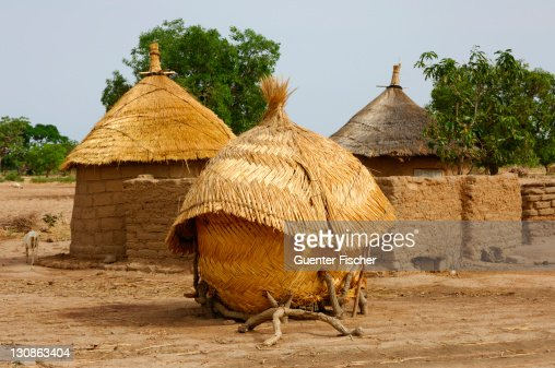 African homestead with granary, Burkina Faso