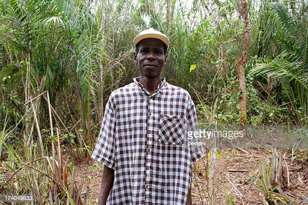 african man in the bush
