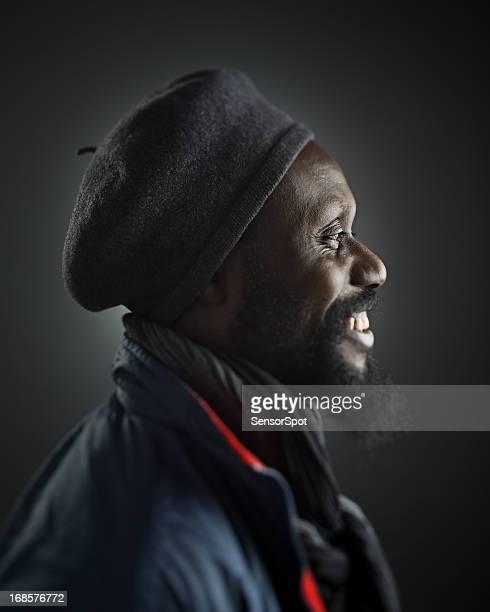 Afrikanische Mann Profil