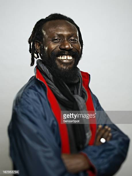 African man with big smile.