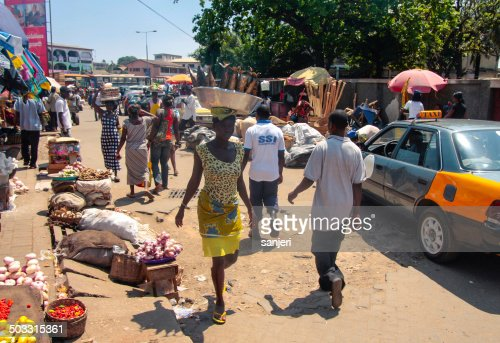 African market in Accra, Ghana