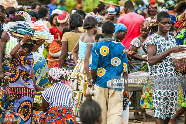 African market scene.