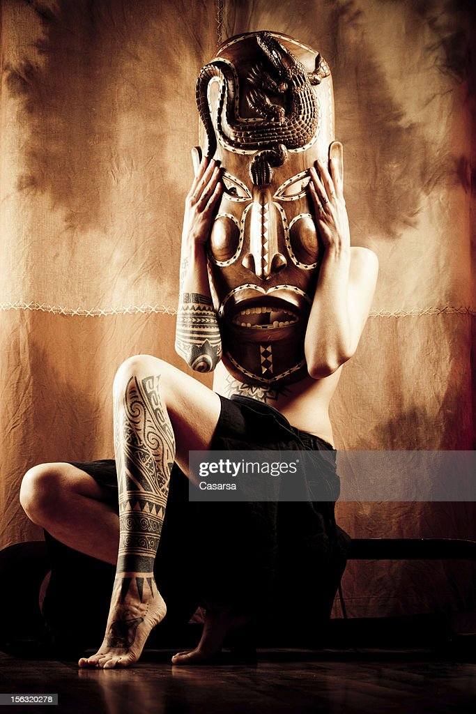 African mask : Stock Photo