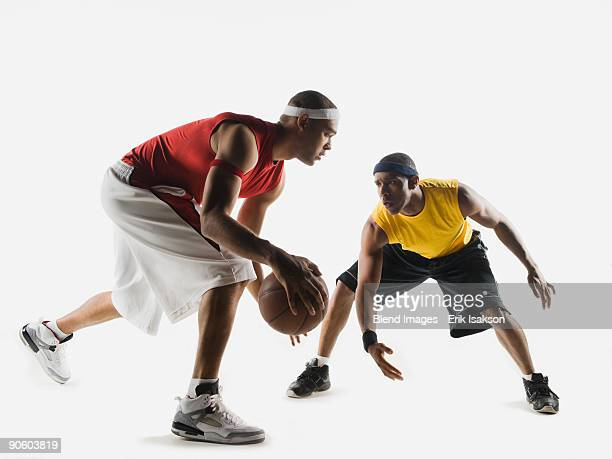 African men playing basketball