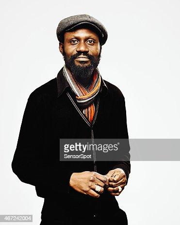 African mid age man portrait.