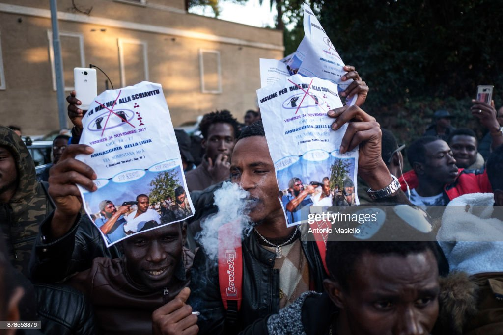 Migrants Protest At Agreement Between Libya And Italy