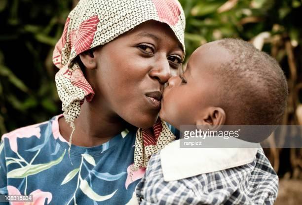 Portrait de mère africaine & enfant