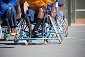 african paralympic games, basketball players  in the wheelchairs