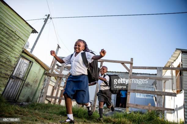 アフリカの学校の子供