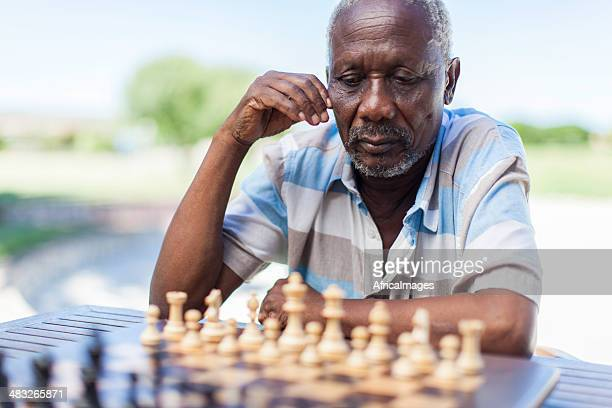 African senior thinking about his next move