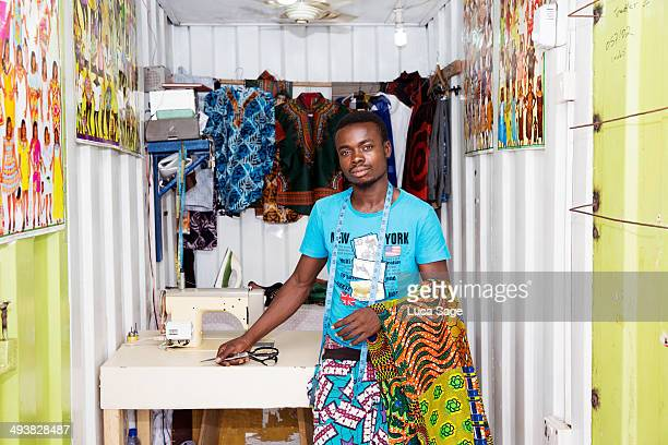African Sole trader at work