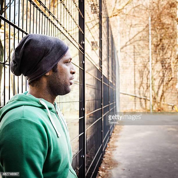 Afrikanischer Sport-Guy Porträt