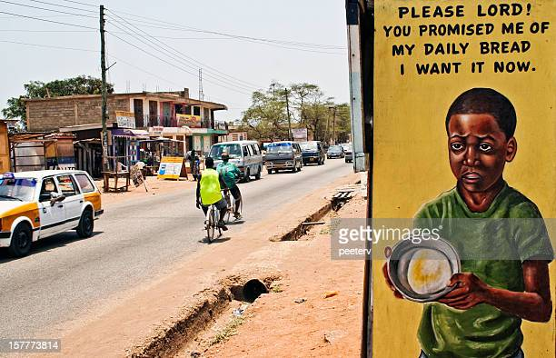 African street scene.